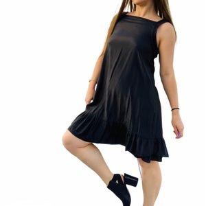 Anthro Aoyama Chintz Silk Pinafore Ruffled Dress